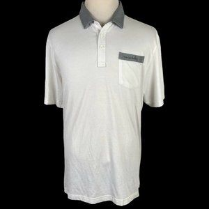 Travis Mathew Men's Golf Polo Shirt XL White Gray